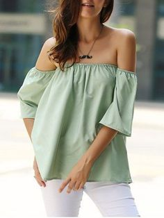 Stylish Off-The-Shoulder Half Sleeves Solid Color Blouse For Women Blouses | RoseGal.com Mobile - work blouse styles, fashion blouses, women's white ruffle blouse *sponsored https://www.pinterest.com/blouses_blouse/ https://www.pinterest.com/explore/blouse/ https://www.pinterest.com/blouses_blouse/designer-blouse/ https://www.everlane.com/collections/womens-tops