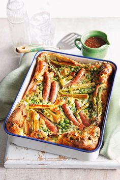 Toad in the hole is a classic comfort food supper and we've made it suitable for summer by packing it with loads of seasonal veg. | Tesco