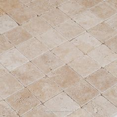 Travertine Tile - Tumbled - Light Beige Premium 2.50