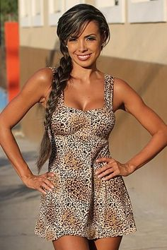 Leopard Swim Dress