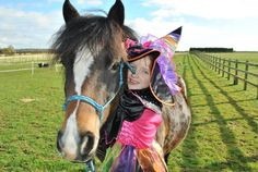 """Category 1 - Best funny/ cute picture  """"5 year old Exmoor X Matty. Pic taken doing a halloween challenge"""""""
