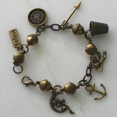 Lost Boys and Peter Pan and Wendy Charm Bracelet by HooliganAlley, $72.00. I could totally make this.