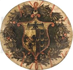 The Coat-Of-Arms Of The Piccolomini Family Italian School | Oil ...