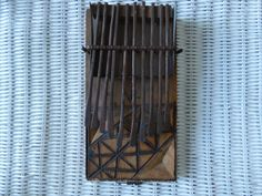 Chokwe African Sanza - Tribal Musical Instrument - Primitive Art - Native Wood and Iron - Made in Zambezi - Ethnic Art - Lovely Music Sound by ChicAvantGarde on Etsy