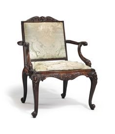 date unspecified A GEORGE II SOLID MAHOGANY ARMCHAIR  CIRCA 1755  Price realised USD 35,000
