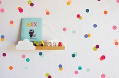 Arco iris pequeños puntos etiqueta de la pared por TheLovelyWall