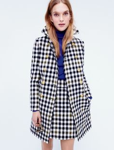 The Double-Breasted Coat, from J.Crew. Matching mini skirt is also available right now!!!!!!