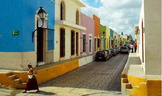 Campeche old town.  Campeche city is UNESCO world Heritage with lot's of beautiful spanish colonial architecture and close to many Mayan Ruins.