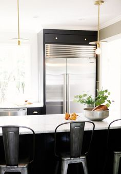 Before and After: A Crowded Kitchen Gets a Classic Redesign via @mydomaine