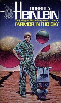 Farmer in the Sky by Robert A. Heinlein bookcovers - Farmer in the Sky (1951) - Andscifi