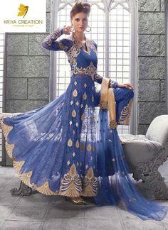 Anarkali Party Bollywood Indian Pakistani Wedding Suit Designer Salwar Kameez…