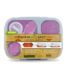 SmartPlanet Pink Large Eco Lunch Box - Okay, been looking at a lot of these. I want this one for our kids and for @Nanette (Bridget) Wold. It can do hot or cold, it has cutlery... it seems to be the right way to deal with kid lunches! #zulily #fall