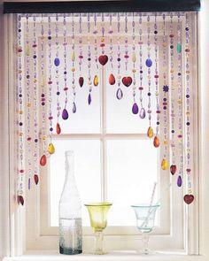 шторы на окно из бусин