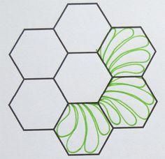 How to Quilt Hexagons /Geta's Quilting Studio