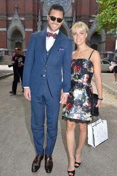 Kiira Korpi ja hänen miehensä Arthur Borges Seppälä saapuivat juhlimaan Lepistön häitä.