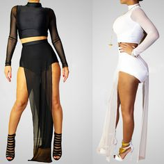 2014 Summer Dress Mesh Sexy 2 Piece Woman Bandage Bar Dress Bodycon Cocktail Party Clothing Set Girl Prom Special Occasion Dress US $14.99
