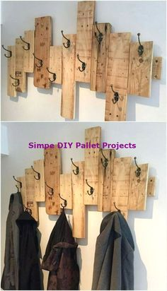 11 Inspiring DIY Pallet Ideas You Can Try Today!New DIY Pallet Projects and Ideas on a budget Diy Pallet Projects budgetpall DIY Ideas Inspiring Pallet Projects TodayNew Wooden Pallet Projects, Diy Pallet Furniture, Pallet Ideas, Wood Ideas, Furniture Ideas, Wood Furniture, Diy Coat Rack, Coat Racks, Palette Diy
