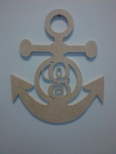 """22"""" Anchor with a monogram G. $25"""
