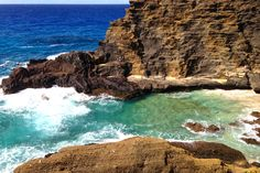 halona blow hole beach. don't miss this overlook! #oahu #honolulu #hawaii