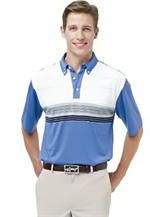 Greg Norman | Mens Golf Shirts | Sante Fe Eengineered Stripe Polo