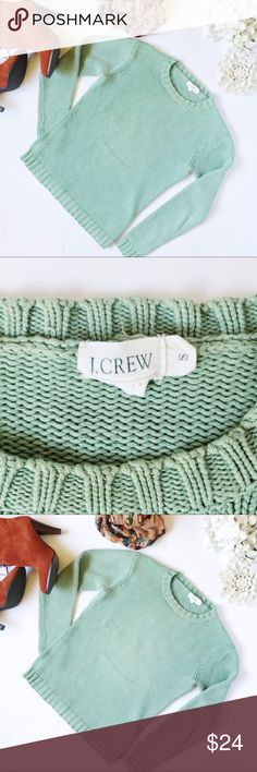 Vintage J. Crew Crew Neck Sweater How cute is this vintage J.Crew knit sweater!? I love that they were in this with the really cute skirt and a really high pair of boots for fall! Open to offers on this item. L 20 2W 16 34–48 J. Crew Sweaters Crew & Scoop Necks