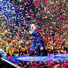"""My heart is so completely full! Night #2 was absolutely everything I could've ever wanted. Thank you @adele for making music that defines me as a person and speaks to me on levels I can't even truly explain! You're EVERYTHING! I captured this photo at the end of """"Rolling In The Deep"""" and it's BEAUTIFUL! ❤️ #adelelive2016 #AdeleInNashville #HelloWorldTour #25Tour #Nashville #MusicCity #Adele"""