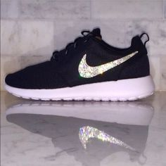 Crystallized Nike Roshe ships within 1 week of purchase. Swarovski element flat back crystal. Message me if you need different size or different color Roshe.