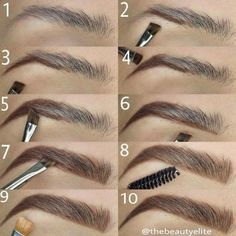 Make Up; Make Up Looks; Make Up Augen; Make Up Prom;Make Up Face; Makeup Steps Source by kayceenjax Eyebrow Makeup Tips, How To Do Makeup, Makeup Guide, Skin Makeup, Eyeshadow Makeup, Makeup Eyebrows, Drawing Eyebrows, Makeup Contouring, Eye Brows