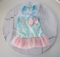 Blue Tulle dress / Bunny dress / Dress for rabbits and small pets $10