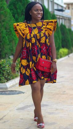 Trendy and Chicky Ankara Short Gown Styles for Stylish Ladies - Stylish Naija Ankara Short Flare Gowns, Ankara Short Gown Styles, Short Gowns, Unique Ankara Styles, African Fashion, African Style, Next Dresses, Fancy, Stylish