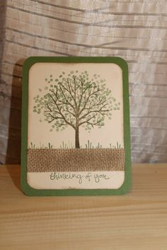 Thinking of You Tree Card by CreateByCait on Etsy