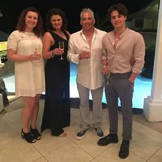 Brad and his family on vacation in Barbados