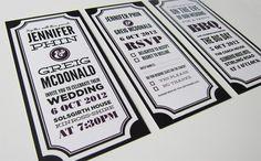 Typographic Wedding Invitations by Mandy Fleetwood, via Behance