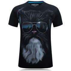 Mens Summer 3D Cool Printing O-neck T shirts S-4XL PLus Size Short Tees