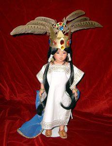 Muñeca con traje típico del Distrito Federal (Ciudad de México)
