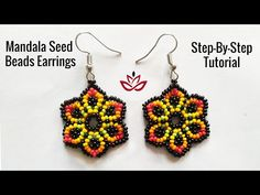 How to meke seed beads flower earrings? Beaded Earrings Patterns, Seed Bead Patterns, Seed Bead Earrings, Beading Patterns, Seed Beads, Flower Earrings, Bracelet Patterns, Seed Bead Flowers, Beaded Flowers