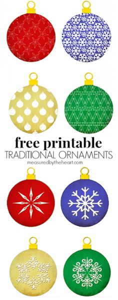 Free Printable Christmas Ornaments.Pinterest