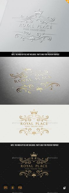 Royal Place — Photoshop PSD #majestic #luxurious logo • Available here → https://graphicriver.net/item/royal-place/9844590?ref=pxcr