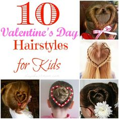 If you're looking for cute and unique Valentines Day Hair Ideas for Kids, you've come to the right place! :-)  I found quite a few adorable ideas for Valentines Day Hairstyles on Pinterest but since my girls have short hair we can't do most of them! *sad face*.  So instead of letting them go to waste, I decided to round them up and share with you!  Let me know which ones are your favorite!