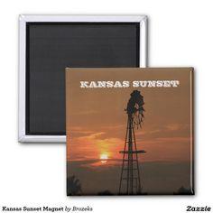 Kansas Sunset Magnet