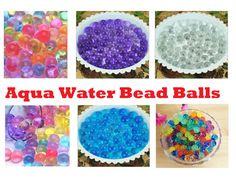 For Sensory Bins: Water Beads Aqua Gems Bio Gel Balls Crystal by HomeSuppliesDirect