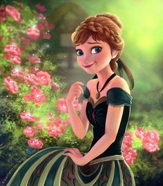 Today's image of the day is of Anna from Frozen by RikaMello on deviantART.com!