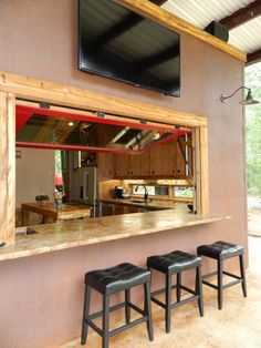 Awesome Indoor Outdoor Bar Window