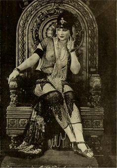 "Betty Blythe as the title role in the now lost silent film ""The Queen of Sheba"" by Fox Films."