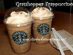 Starbucks Secret Menu: Grasshopper Frappuccino  Mmm, who doesn't love mint chocolate chip ice cream?  If you do, you have to try the Grasshopper Frappuccino!
