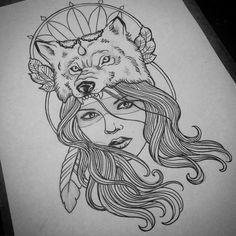 #sketch #wolf #portrait #portraittattoo #tattoo #tatuaje #tattoosp #tatuagem #tatuadoresbrasileiros #gugo #guarulhos #gugotattoo #arte #art…