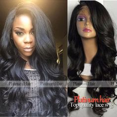 Natural Hairline Synthetic Lace Front Wig Black Color Middle Part Wigs Heat Resistant Body Wave Wigs For Black Women -- Click the image to find out more