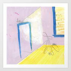 Purple Room Art Print by Michelle Schwartzbauer - $20.00 #illustration #art