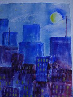 Waldorf ~ 7th grade ~ watercolor painting
