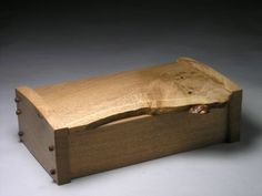 Natural edge oak - Box Galleries - Peter Lloyd